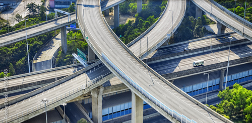 city overpass in HongKong,Asia China Wallpaper Mural