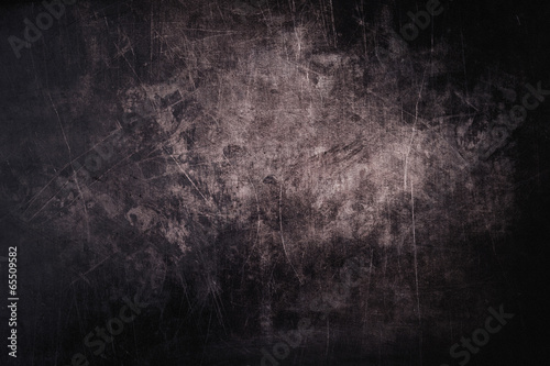 Fotografie, Obraz  Tmavě grunge pozadí s škrábance