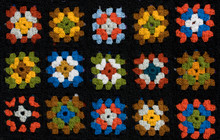 Retro Homemade Crochet Blanket...