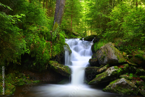 Recess Fitting Waterfalls Waterfall in the national park Sumava-Czech Republic