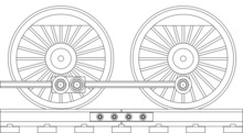 Steam Train Wheels