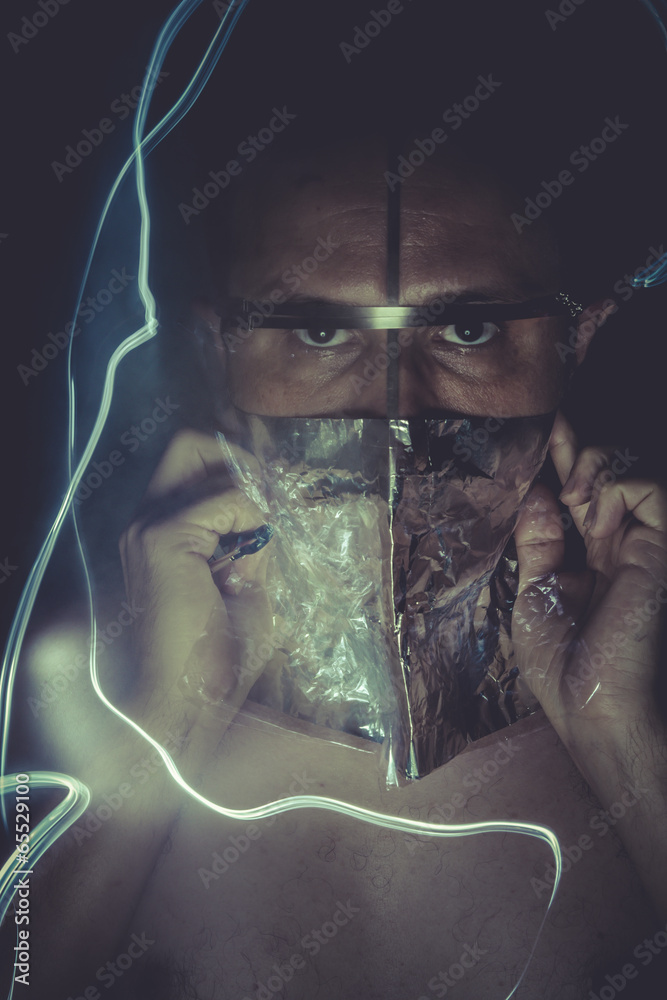 Photo Art Print Psychotic Concept Of Mental Disorder