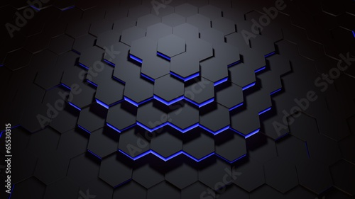 hexagon pattern blue © spyder24