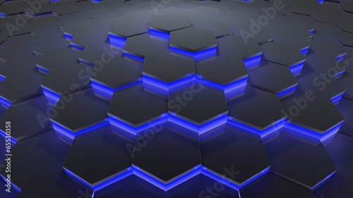 hexagon pattern blue © spyder24