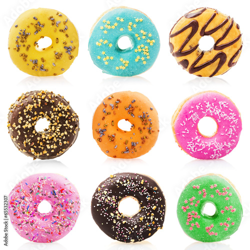 Photo  Donuts isolated on white background