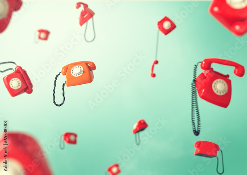 Foto op Plexiglas Retro Vintage telephones.
