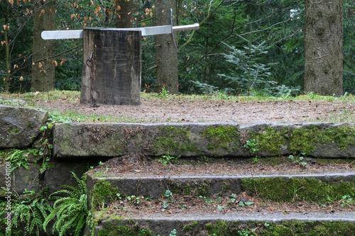 Letzte Schtufen zum Schafott Fototapet