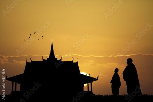 Photo  Buddhists in Bangkok