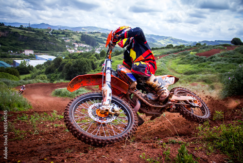 Foto op Canvas Motorsport Motocross rider