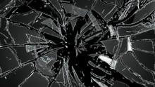 Pieces Of Destructed Shattered...