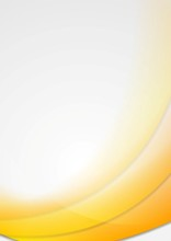 Abstract Yellow Wavy Design