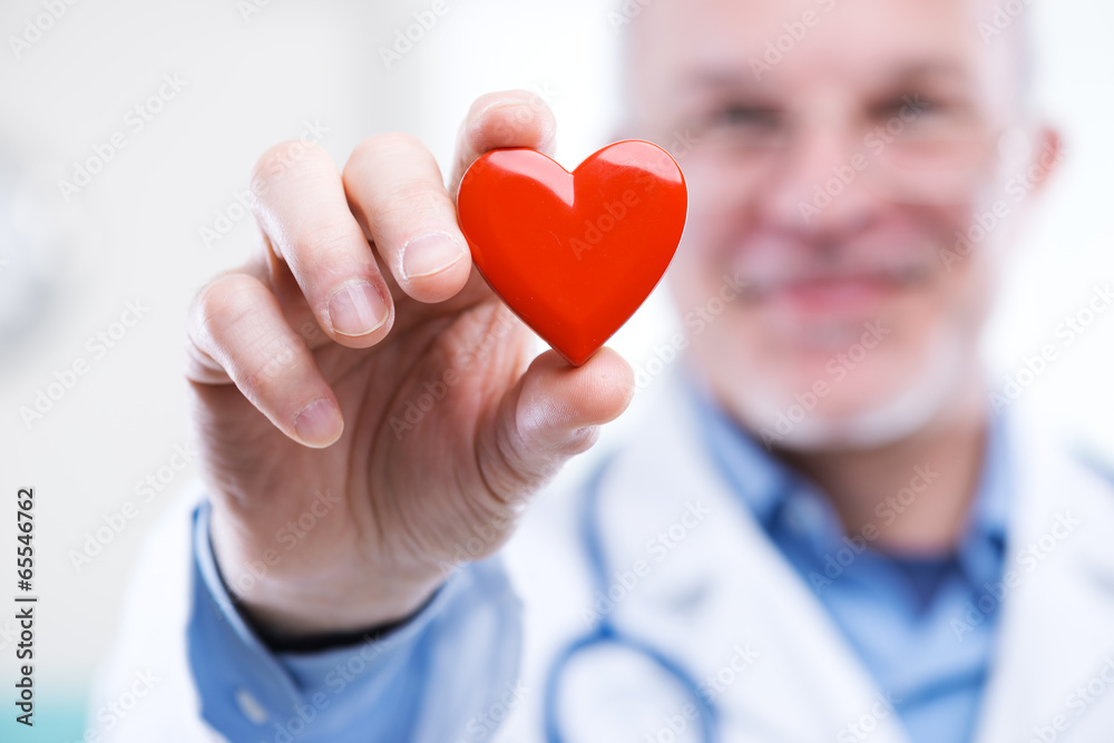 Fototapety, obrazy: Doctor with heart
