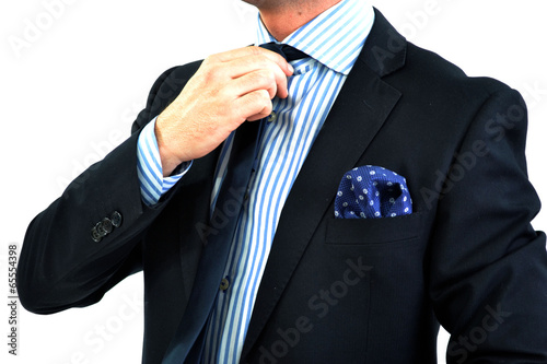 Fotografie, Obraz  Hombre formal con traje y pañuelo.