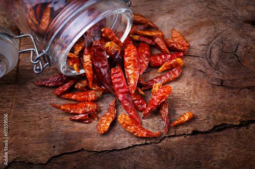 suszone-papryczki-chili-na-drewnianym-tle