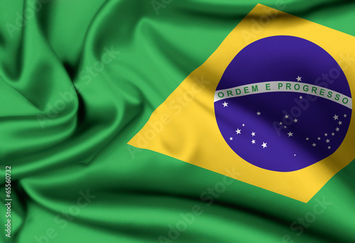 Foto  flag of Brazil background