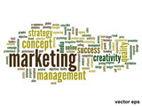 Vector conceptual business marketing word cloud