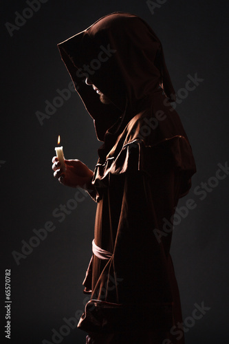 mysterious Catholic monk Canvas