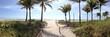 canvas print picture - Miami Beach panorama