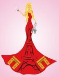 Fototapeta Fototapety z wieżą Eiffla - Paryżanka