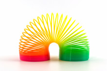 Rainbow Colored Wire Spiral Toy.