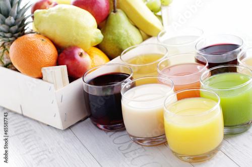 Foto op Canvas Sap collection of juice