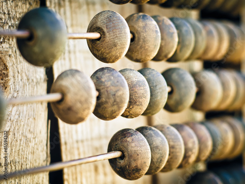 Photo wooden abacus