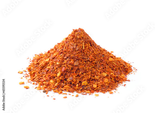 Canvas Prints Spices Cayenne pepper on white background