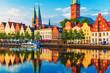 Leinwanddruck Bild - Lubeck, Germany