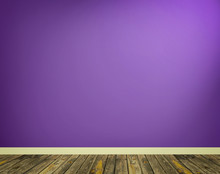 Room Interior With Purple Wall