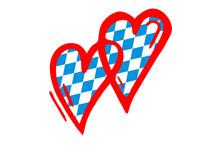 I Love Bavaria - Oktoberfest / Doppeltes Herz