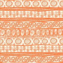 Tribal Orange Ornament