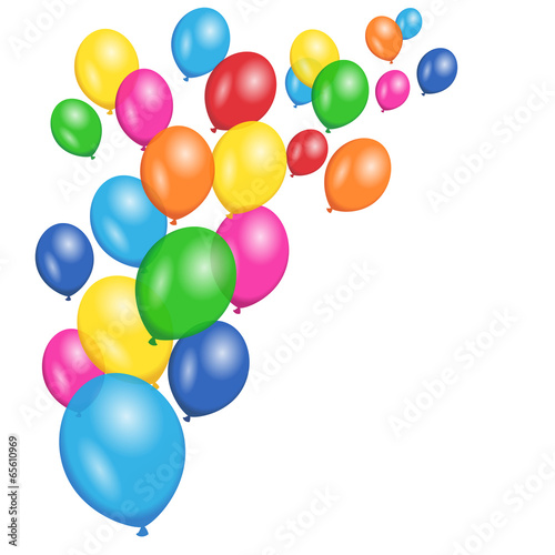 Fotografie, Obraz  Colorful Balloons Party Vector Background