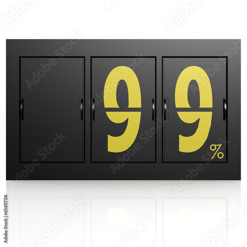 Photographie  Airport display board 99 percent