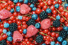 Fresh Blackberries, Currants, Raspberries, Blueberries