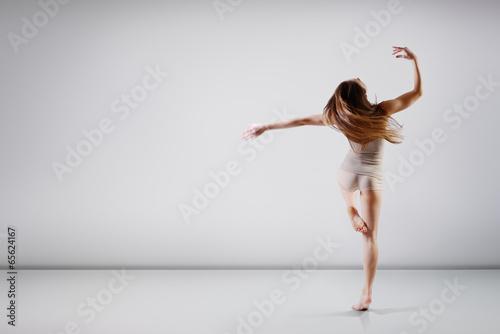Dancer - belle jeune danse ado fille au studio, série Poster Mural XXL