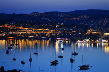 View Of Gumbet Bay By Night. T...