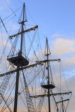 Rigging Of The Sailing Ship In Gdansk, Poland