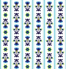 Obraz na Szkle Folklor Polish folk pattern