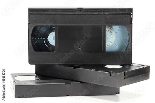 Videokassetten isoliert auf weißem Hintergrund Canvas-taulu