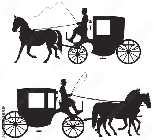 Foto Carriage Silhouettes