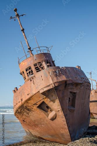 Deurstickers Schipbreuk rusty ship