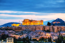 Acropolis In The Evening After...