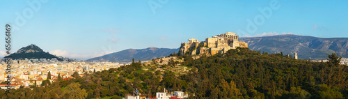 Poster Athens Panorama with Acropolis in Athens, Greece