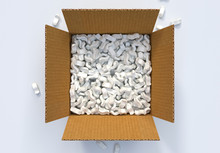 Box With Shipping Peanuts And