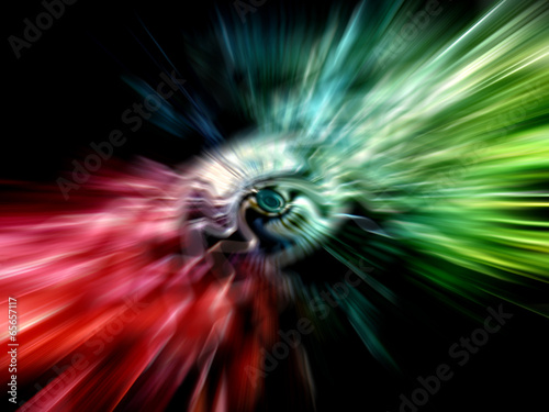 Fotografie, Obraz  Abstract rainbow background with divergent rays