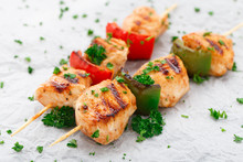 Grilled Chicken Skewers With P...