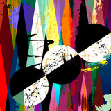 abstract background, with strokes, splashes, circles and geometr