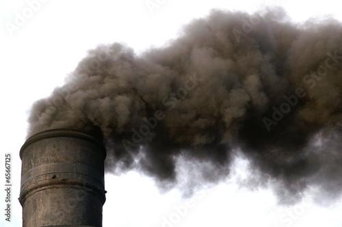 Obraz na płótnie Polluted air by smoke from the factory