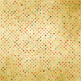 Colorful polka dot pattern on cardboard. EPS 8