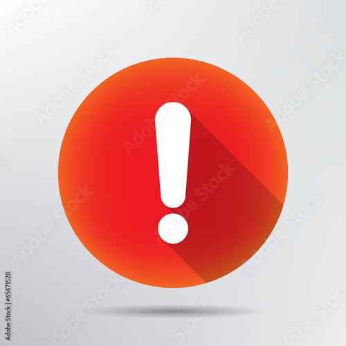Fotografie, Obraz  exclamation mark icon.